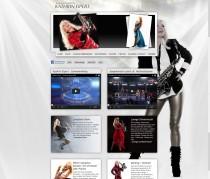 Webdesign für Saxophonistin